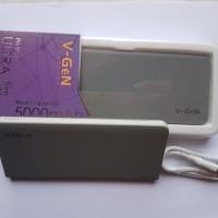 Power bank V-gen V502 5000 MAH grey slim real capacity garansi 1 THN