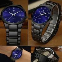 Wwoor 8830 Simple Dan Elegan Blue  Jam Tangan Pria Anti Air Original