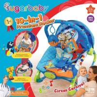 Bouncer Bayi Sugar Baby 10 in 1 Premium Rocker - Circus Carnival
