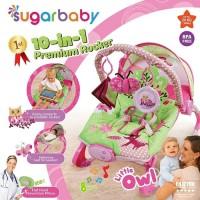 Bouncer Bayi Sugar Baby 10 in 1 Premium Rocker - Little Owl
