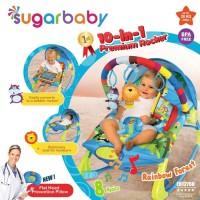 Bouncer Bayi Sugar Baby 10 in 1 Premium Rocker - Rainbow Forest