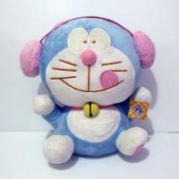 Boneka Doraemon Pink Headset Original Fujiko Pro Japan Exclusive Big