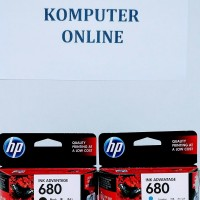 HP 680 Black/Colour Catridge Printer Tinta 100% Original