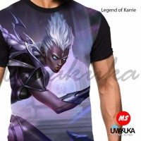 kaos 3d fullprint mobile legend karrie