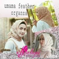 jilbab segiempat organza umama feather