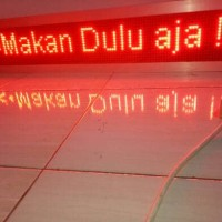 Running Text 16*128 Garansi 1 Tahun Merah Outdoor Wifi android HP Led