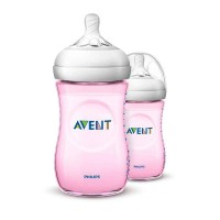 Botol Philips Avent Natural Twin Pink 260 ml