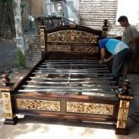 Tempat Tidur Rahwana antik Mas,Dipan Jati,Ranjang Murah,Mebel Jepara