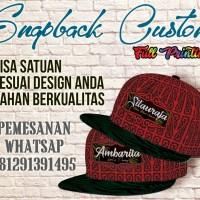 Topi custom/Snapback custom/snapback printing/snapbackfullprinting