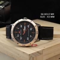 Jam Tangan Pria Wanita Swiss Army SA 6012 M SA6012M Brown Black