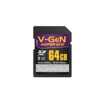 SDXC V-GeN 64GB Hyper Evo 4.0 280MB/S (SDCard VGEN Memory Kamera)