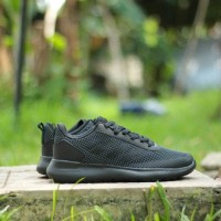 Sepatu Running Adidas Cloudfoam Racer Ultimate Full Black Original