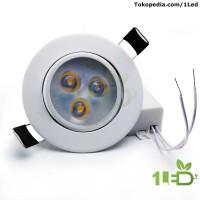 Lampu downlight LED Sorot 3W Warm White 3W Watt 35Watt body White