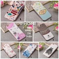 case casing silikon iphone 6 6s 7 + plus cute unik flower lucu beruang