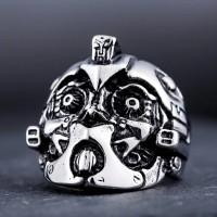 Bumblebee transformers skull ring / cincin tengkorak import
