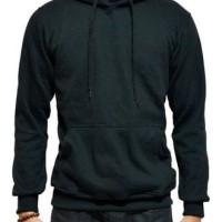 TERMURAH Jaket Sweater Polos Hoodie Jumper Hitam Unisex TERKEREN