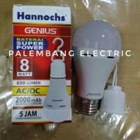 lampu bohlam led hannochs genius emergency 8watt 8 watt 8w 8 w