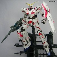 MG 1/100 Unicorn Gundam full psycho frame HD color + MS Cage daban
