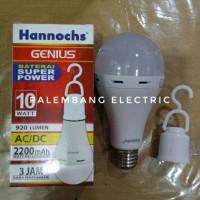lampu bohlam led Hannochs genius emergency 10watt 10 watt 10w 10 w