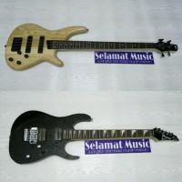 Bass SDGR Natural Dan Gitar Listrik Ibanez RG420 Black