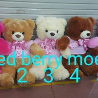 boneka teddy bear baju / boneka beruang dress
