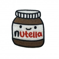 Iron Patch Nutella Ukuran L: 5cm T: 6cm