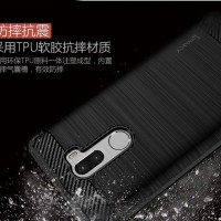 Vivo Y12 Y15 Y17 carbon fiber softcase soft cover back case casing