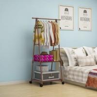 triangle stand hanger - standing hanger - lemari pakaian minimalis