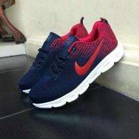 Sepatu Nike Zoom Vegasus Sneakers Olahraga Navy Merah