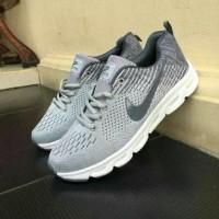 Sepatu Nike Zoom Vegasus Sneakers Olahraga Abu Muda