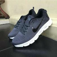 Sepatu Nike Zoom Vegasus Sneakers Olahraga Abu Tua