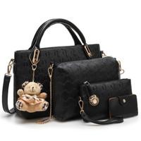 Tas Handbag Wanita Teddy Exoxy Import Batam 4 in 1 Termurah