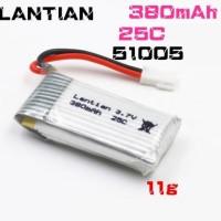 Lantian 3.7V 380mah 25C 1S Lipo Battery Micro Mini Racing