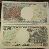 UANG KUNO UANG LAMA UANG MAHAR Rp. 500 Orang Utan tahun 1992