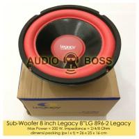 """Speaker Subwoofer 8 inch Legacy 8 LG 896-2 / Subwoofer 8"""" Legacy 896"""