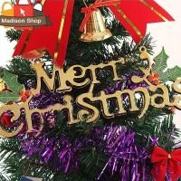 25 CM HIASAN NATAL TULISAN KRANS MERRY CHRISTMAS DEKORASI NATAL MURAH