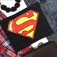 Limited KAOS TUMBLR TEE WANITA SUPERMAN LENGAN PENDEK KATUN 100 DIJA