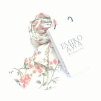 Kerudung Segiempat Motif Sakura Salem / Hijab / Jilbab / Emikoawa