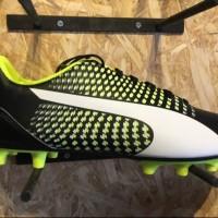 Sepatu bola puma original Adreno 3 FG Black stabilo white new 2017