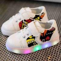 Etnik Shoes Full LED Size 21-30cm Sepatu Anak Import Murah
