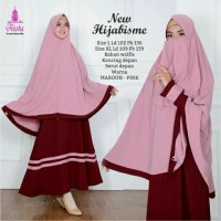 Baju set Gamis Syar'i hijabisme Original Aiisha + Khimar dan Cadar