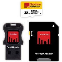 Strontium 32GB NITRO MicroSD with Card Reader up to 70 Murah