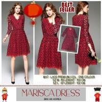 Dress Midi Import BKK-HK-KOREA Premium Quality Material Lace Premium