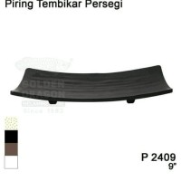 Piring Tembikar Persegi Melamin Golden Dragon Plate Melamine 9 Inch