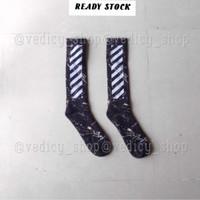 JUAL OFFWHITE KAOS KAKI MARBLE BLACK ( OFFWHITE SOCKS )