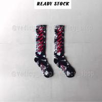 KAOS KAKI OFFWHITE RED LIQUID ( OFFWHITE SOCKS )