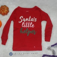 Kaos natal anak brand Carter's Santa's Little Helper