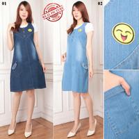 Overall Rok Jeans Jessica Short Dress Wanita