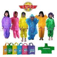 Jas Hujan Anak Star Kid / Jas hujan anak TK SD Setelan Baju Celana