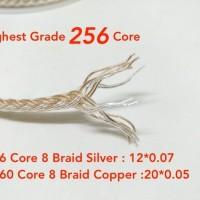 16 Braid High Grade Silver Hybrid Best For M2M Aux Cable (Per 15cm)